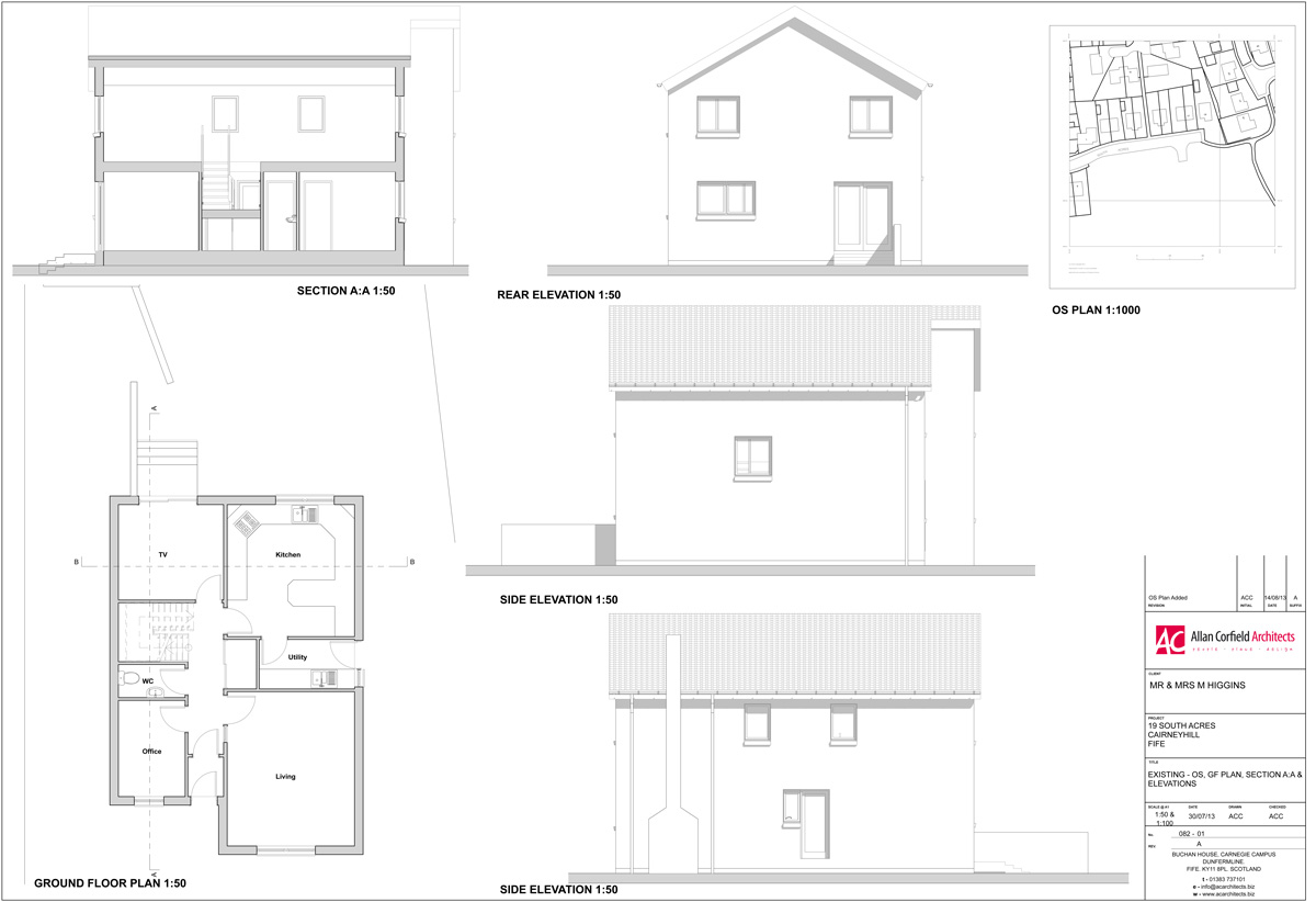Existing Drawing   House Extension ACA