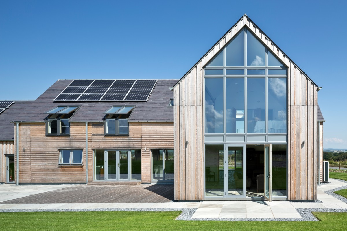 Gleneagles self build home allan corfield architects for Building a house with sip panels