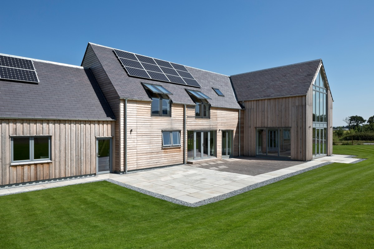 Gleneagles self build home allan corfield architects for Energy efficient kit homes