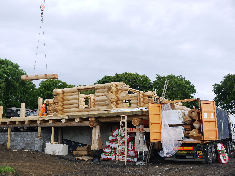 Log Home Construction Method