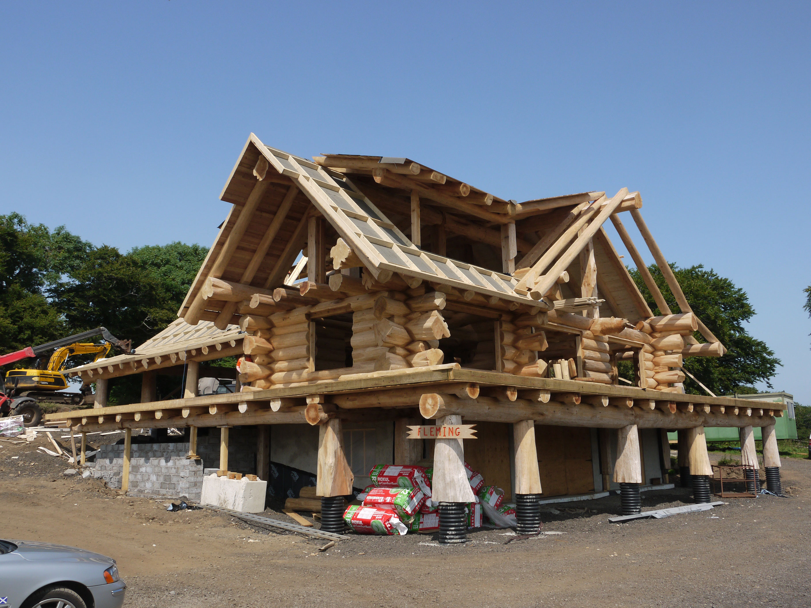 Building log homes in the uk for House log