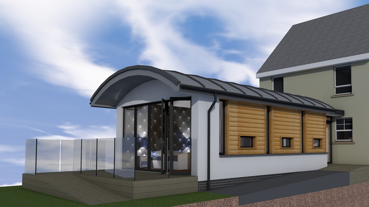 Extension In Banknock Contemporary Plans Using SIPs