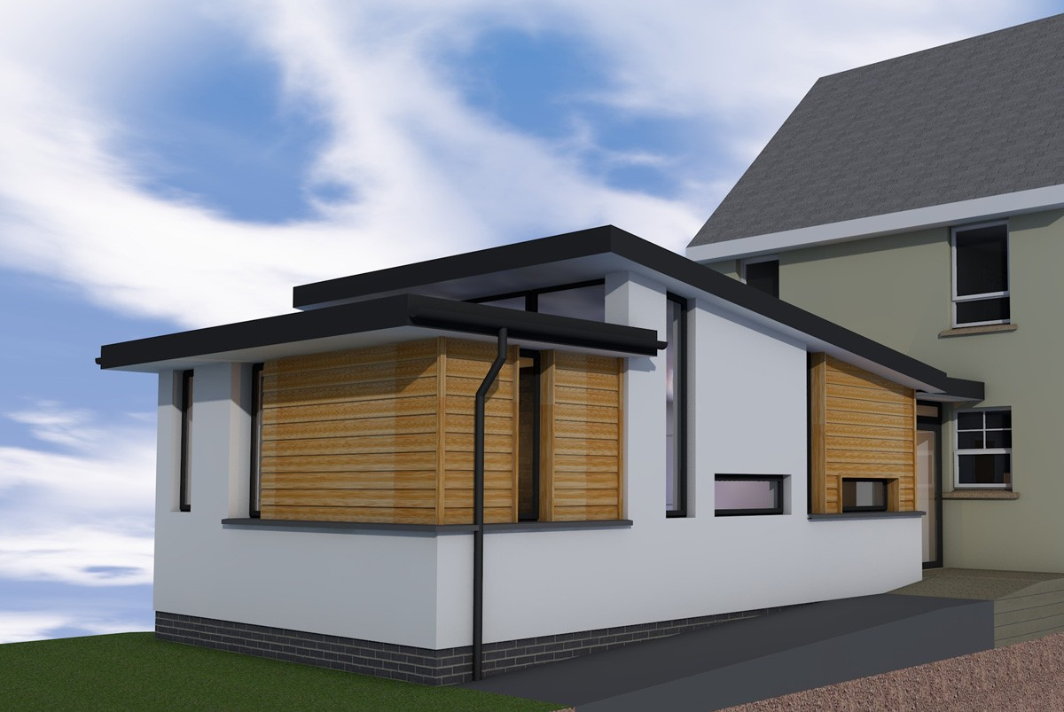 Extension in banknock contemporary plans using sips for Modern sip house plans