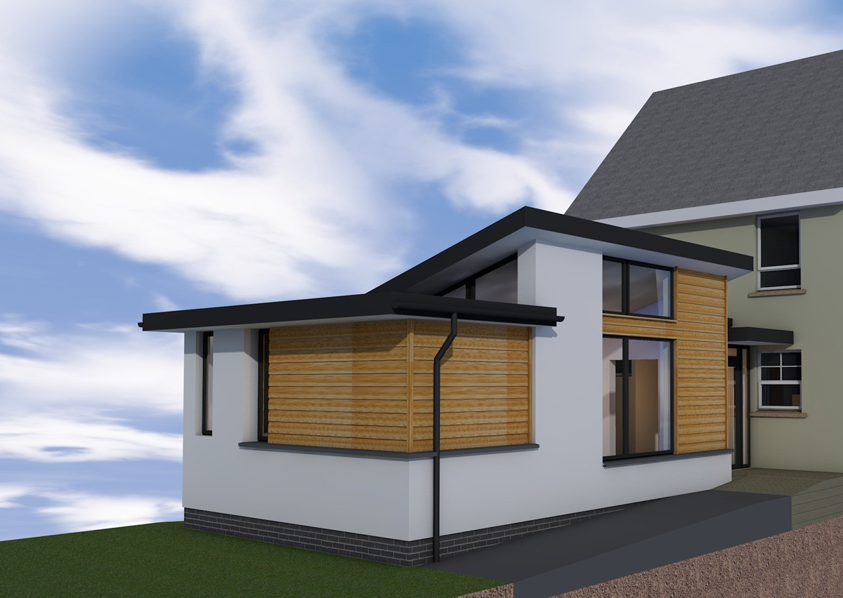 Extension in banknock contemporary plans using sips for Sips home packages