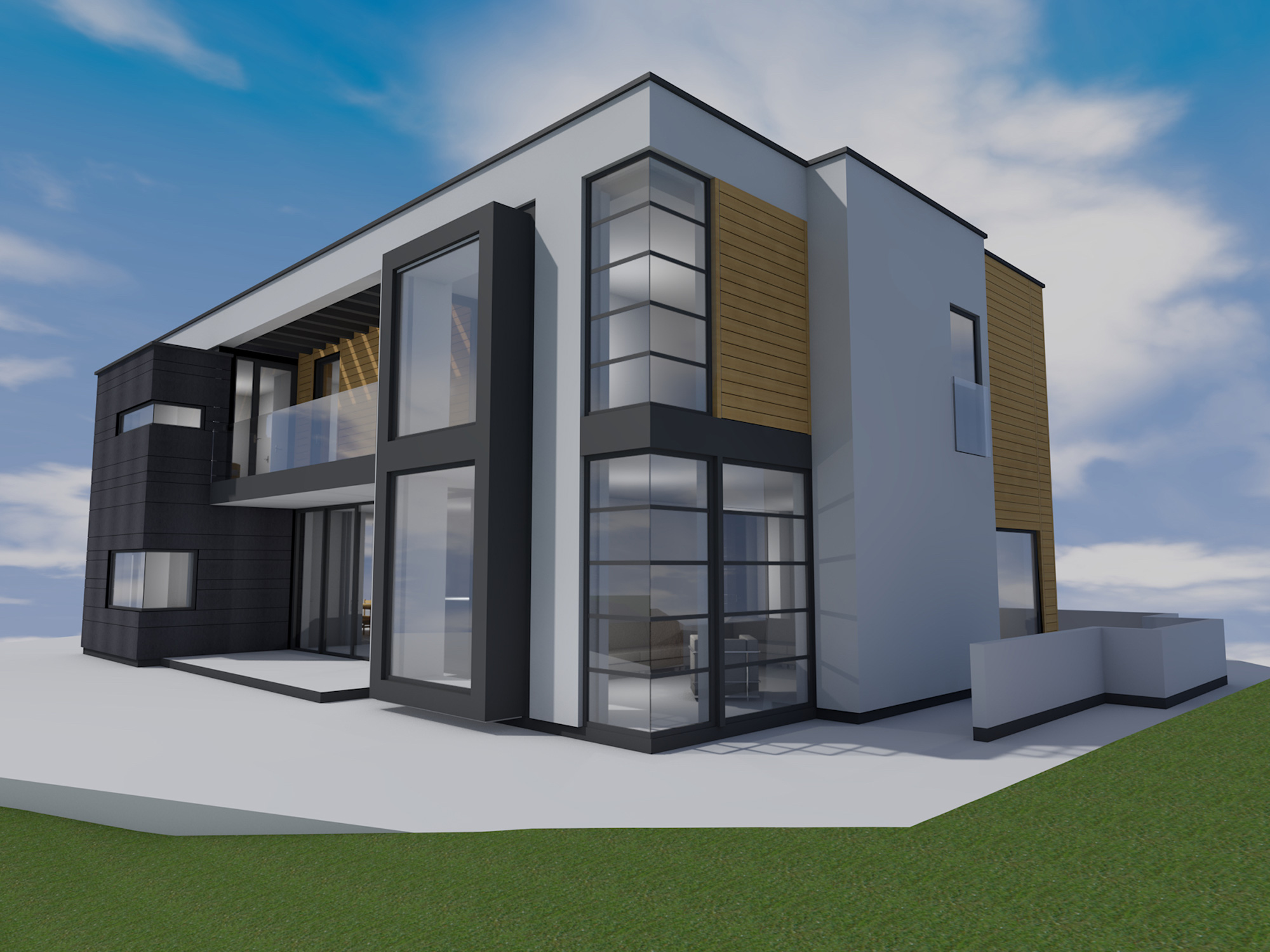 Modernist self build house aberdeen for Sip garage kits
