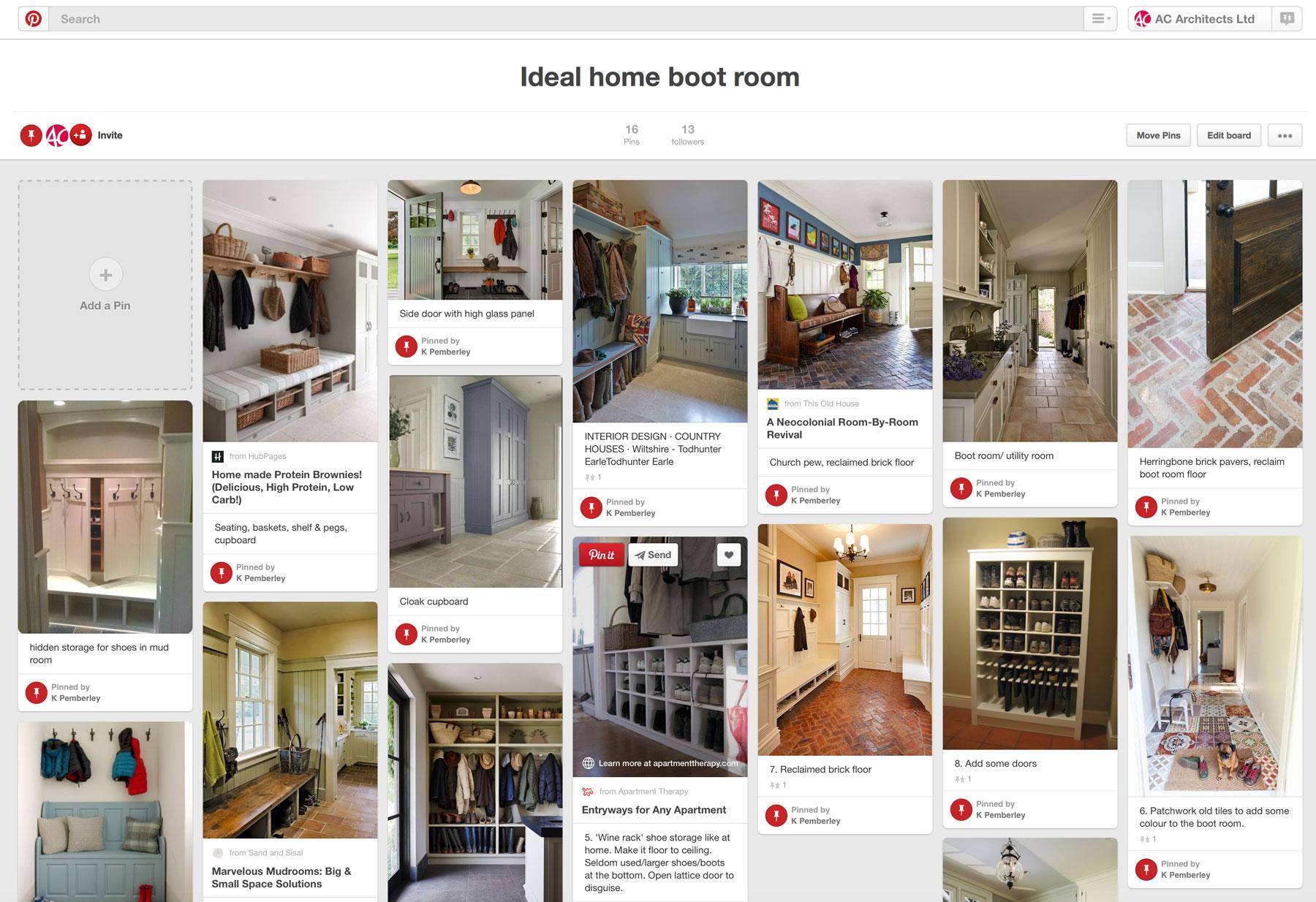 Digital mood boards utilising pinterest for your self build for Digital house design