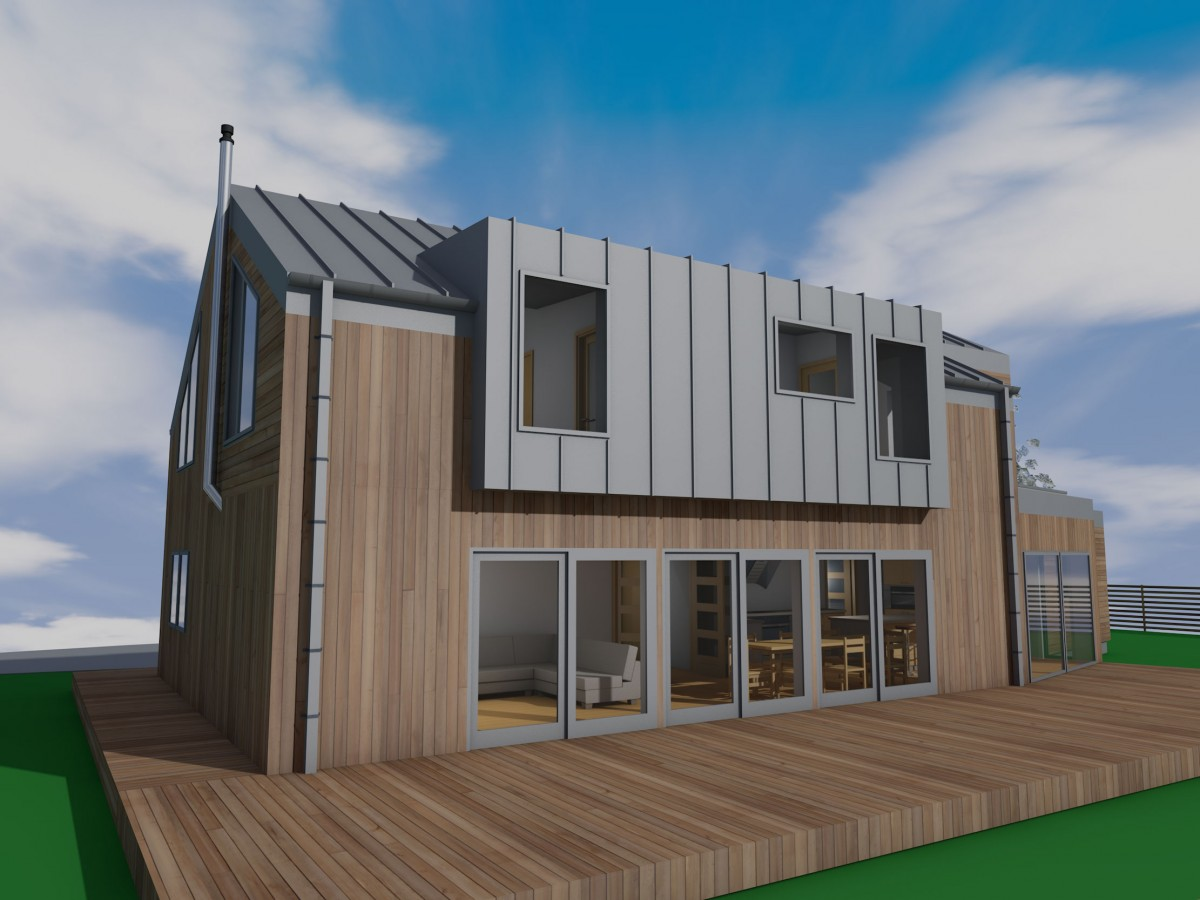 Contemporary timber frame self build lasswade for Modern house construction