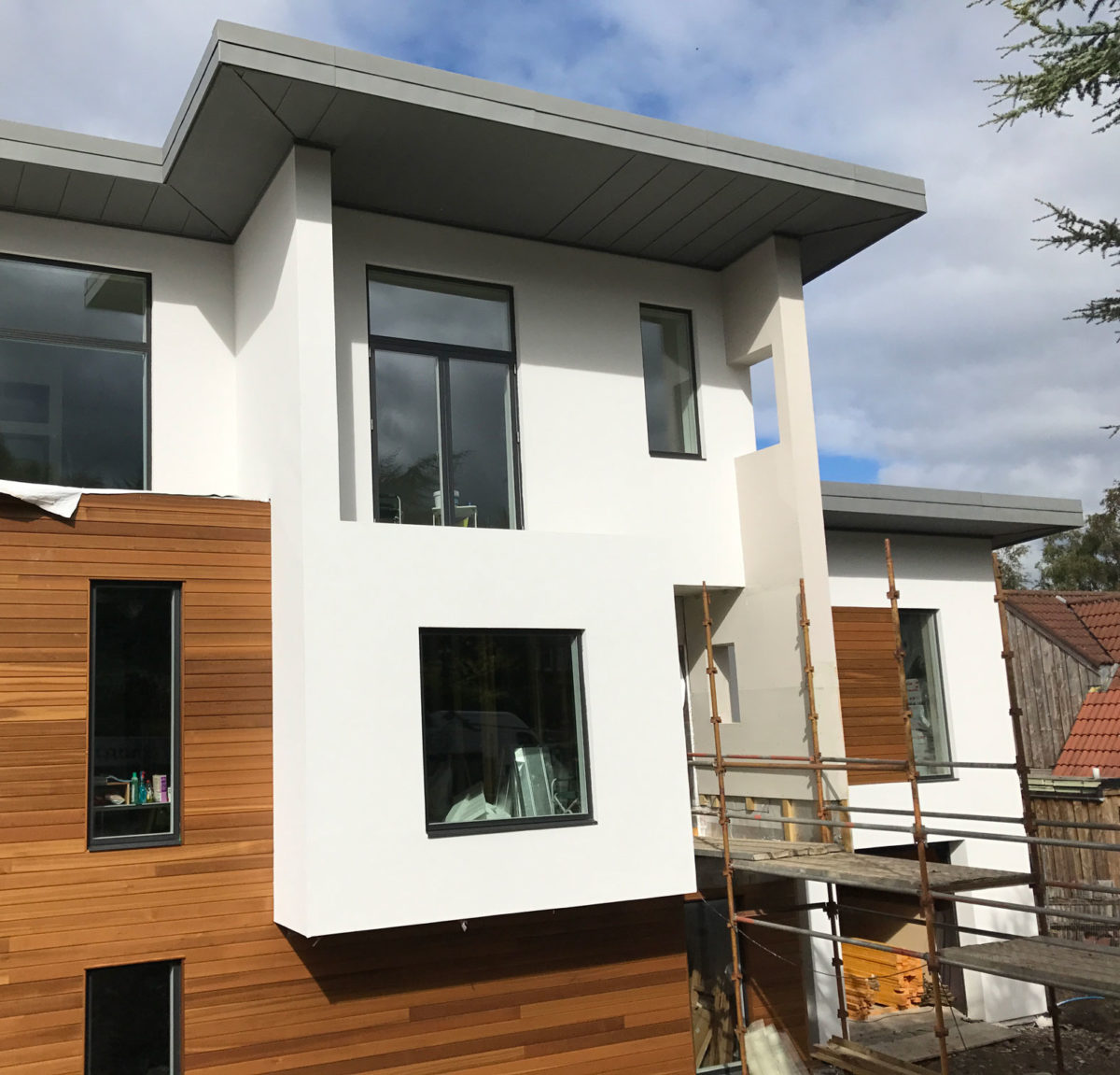Render and timber front Edinburgh