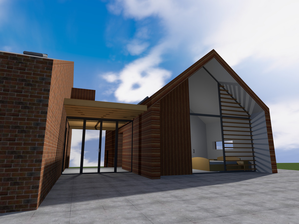 Modern barn conversion and extension in fife scotland for Self build homes designs